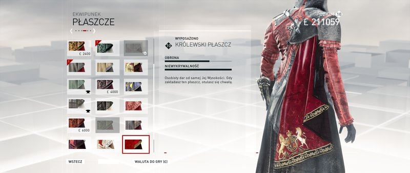 assassins creed syndicate ekwipunek crafting